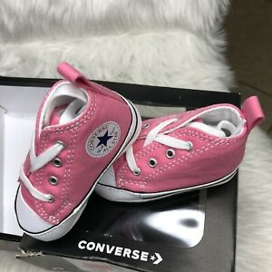 Converse All Star Chuck Soft Bottom 88871 Pink New Born Baby Shoes Size 2 $12.99