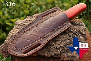 HAND MADE PURE ENGRAVED LEATHER SHEATH FOR FIX BLADE KNIFE AH 1316