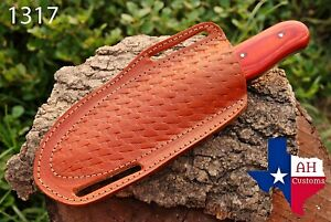 HAND MADE PURE ENGRAVED LEATHER SHEATH FOR FIX BLADE KNIFE AH 1317