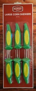 Midwest Grill Co. Large Corn on the Cob Skewers Set of 6