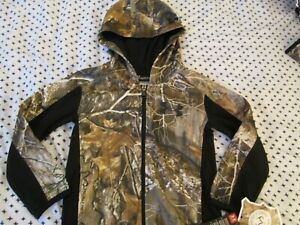NEW Boys UNDER ARMOUR REALTREE EDGE Full Zip Camo Hoodie Size 7 FREE SHIP $39.99