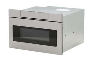 Sharp 1.2 cu. ft. 24 in. Microwave Drawer with Concealed Controls, Built-In Stai
