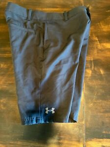 Under Armour Boys Golf Shorts Black Loose Fit Size Youth Large $6.99