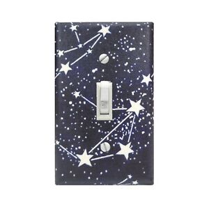 Glow in the Dark Stars Wall Single Toggle Light Switch Plate, Decorative Outlet