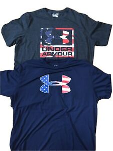 Lot Of 2 Under Armour Mens Tee Shirts L,XL $7.20