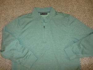 Green Under Armour Loose Cold Gear 1 2 Zip Pullover Sweatshirts 3XL XXXL Lounge $30.24