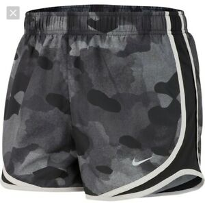 NWT Women's Nike Tempo Dri Fit Running Athletic Shorts Plus Size 2X Gray Camo $20.99