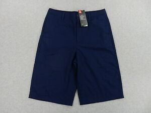 NWT Under Armour HEAT GEAR Loose Fit Chino Shorts Youth XL Blue $24.99