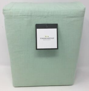 New Threshold Queen Sheet Set - Vintage Wash Chambray Green - (B TO)
