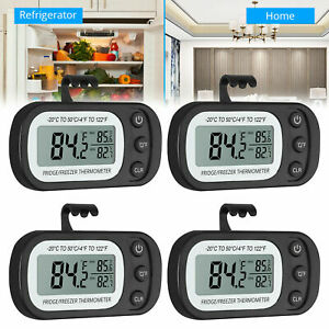 4Pack LED Digital Refrigerator Freezer Thermometer Max/Min Record W/Screwdriver