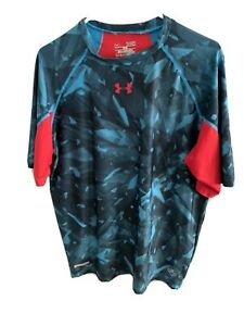 Under Armour NFL Combine Authentic Men's Xl Fitted Red Blue Camo Shirt $15.00