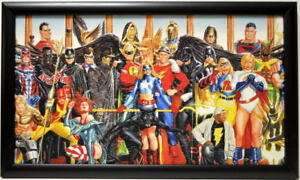 JUSTICE SOCIETY Of AMERICA GENERATIONS Framed PRINT Alex Ross art $74.99