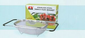 Stainless Steel Adjustable Colander Strainer Over The Sink With Nonslip Handles