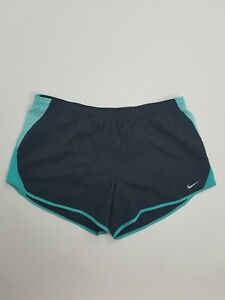 Women's Black and Teal Nike Running Shorts Sz XL $21.95
