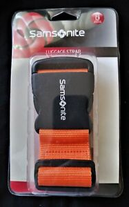 Samsonite Luggage Strap Belt for 72quot; Suitcase Juicy Orange New ABS Buckle Sealed $12.95