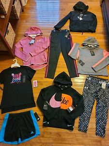 Under Armour Nike Adidas clothing Youth Girls size Large YLG lot of 8 NWT $144.99