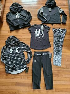 Under Armour Nike Adidas clothing Youth Girls size Large YLG lot of 7 NWT $134.99