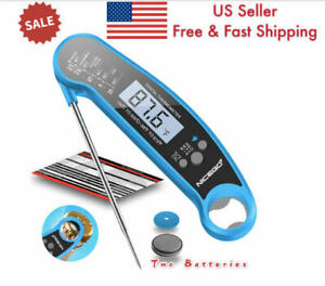 Waterproof Instant Read Meat Thermometer for Kitchen &Outdoor Cooking, BBQ,GRILL