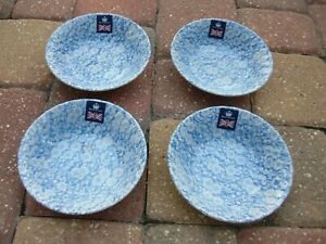 NEW~ROYAL WESSEX by CHURCHILL WINTER~SET OF 4 CEREAL SOUP BOWLS~6.25