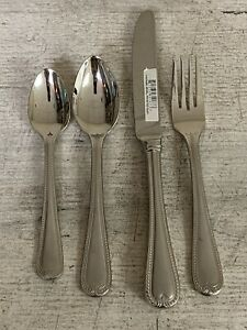 Lenox Vintage Jewel Frosted 4-Piece Stainless Flatware Set