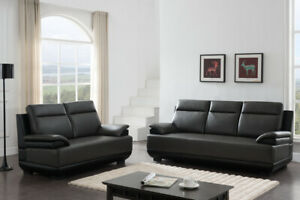 Luxurious Living Room Furniture Sofa Loveseat Contemporary Gray 2piece Sofa Set $1449.99