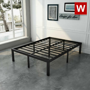 Full Size Steel Bed Frame Heavy Duty Metal Platform Beds Height 14quot; $127.99