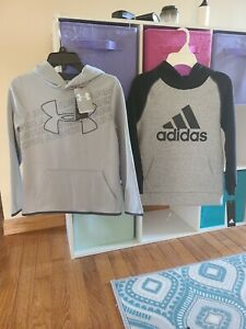 Under Armour Adidas youth boys hoodie sweatshirts size small 7 8 YSM NWT $44.99