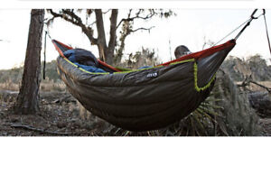 ENO Blaze UnderQuilt Winter Hammcok For Camping  Charcoalneon Color