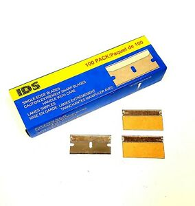 SINGLE EDGE 1.5″ RAZOR BLADES PACK OF 100 – Made By IDS
