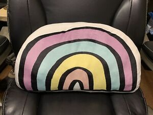 Rainbow Throw Pillow Super Soft And Squishy New With Tags 20quot; x 10quot;