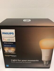 Philips Hue White Ambiance Bulb Starter Kit Voice Control Brand New  SEALED