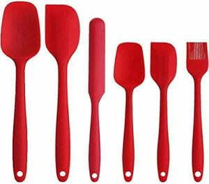 Silicone Spatula Set  Non Stick Baking Sets for Cooking Baking and Mixing 6PCS
