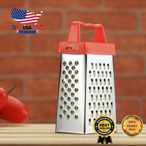Stainless Steel Manual Vegetable Cheese Grater 4 Sided With Container Box