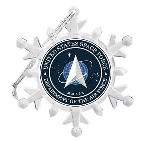 United States Space Force Air Snowflake Light Holiday Christmas Tree Ornament