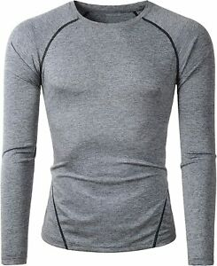 Beninos Mens 2 Pack Dry Fit Long Sleeve Compression Workout Running T Shirts $35.52