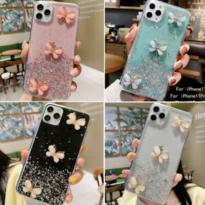 iPhone 12 11 Pro Max 8 7 XS Max XR Bling Glitter Butterfly Cute Phone Case Cover