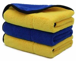 Microfiber Cleaning Cloths Towels 16#x27;#x27; x 16#x27;#x27; Premium