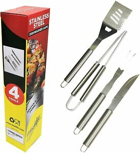 Steelific Stainless Steel 4-Piece BBQ Tool Set (FREE USA SHIPPING!)