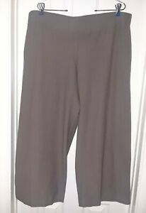 EILEEN FISHER WASHABLE STRETCH KNIT STRAIGHT WIDE LEG CROP PANT XL
