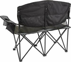Camping Chairs Camp For Adults Kids Double Seat Collapsible Outdoor Use Gray