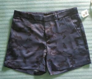 Banana Republic Women's Blue Camouflage Satin Shorts Size 4 New Without Tags