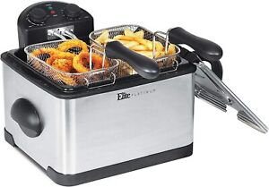 ELITE PLATINUM EDF-401T DUAL DEEP FRYER WITH 3 BASKETS *** SHIPS FREE**