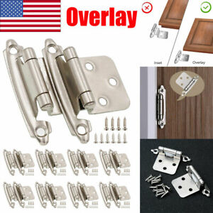 Kitchen Cabinet Hinges Overlay Self Closing Face Mount Cupboard Door Hinge Lot