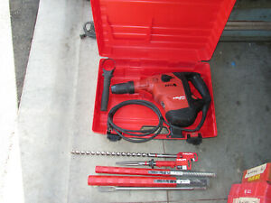 Hilti TE 60 ATC AVR sds max 115v ac hammer chipping w lot bits kit COMBO 911