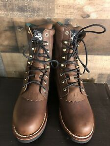 Men's Georgia Boots Size 9.5 Lacer Boot Farm And Ranch