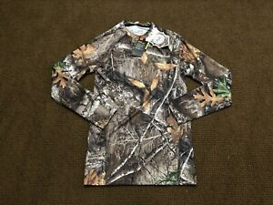 Under Armour Mens Coldgear Reactor Base Layer Realtree Camo Hunting Shirt Small $44.99