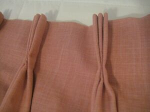 Luxurious Custom Solid Pink Blackout CURTAIN Drapes $4000 one panel 8'11