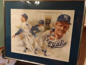 Signed lithograph George Brett quot;The Swingquot; $210.00