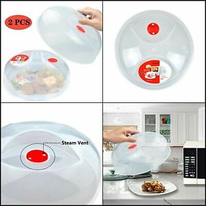 Microwave Plate Cover for Food Large Easy Grab Microwave Cover Splatter Guard