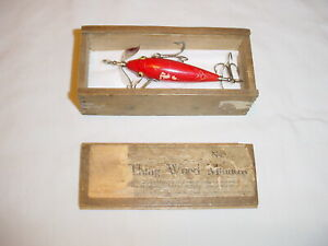Vintage Early 1907 to 1911 PFLUEGER Trade Minnow Fishing Lure RARE heddon